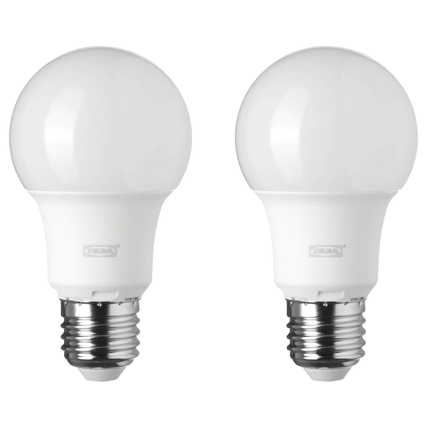 RYET LED bulb E27 600 lumen Globe opal white