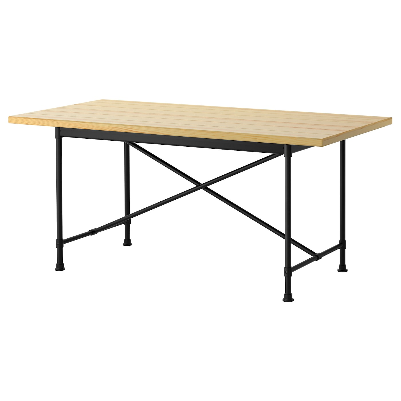 Ryggestad table pine karpalund black 170x78 cm ikea for Pine desk ikea