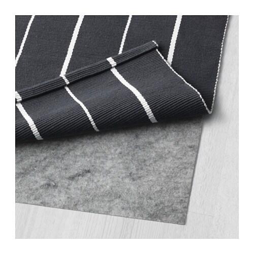 S Ften Rug Flatwoven Black White 80x150 Cm Ikea