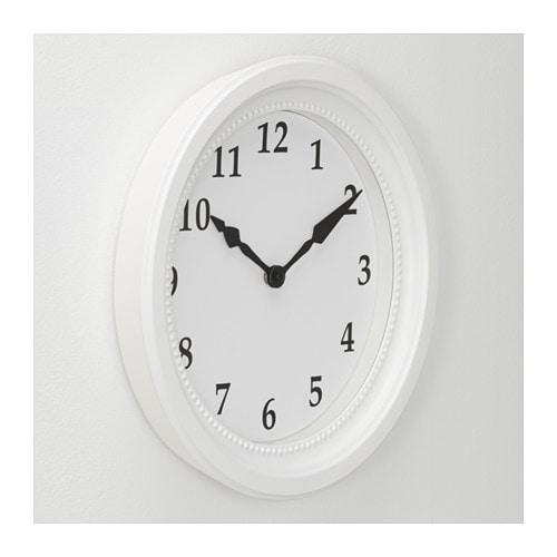 S ndrum wall clock white ikea for Ikea horloge
