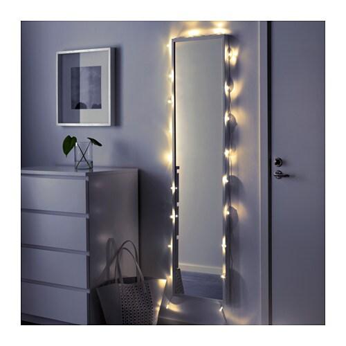 s rdal led lighting chain with 24 lights transparent. Black Bedroom Furniture Sets. Home Design Ideas