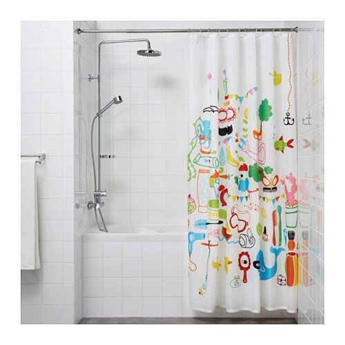 IKEA SÄVERN shower curtain rod You can easily extend the rod from 130 to 240 cm.