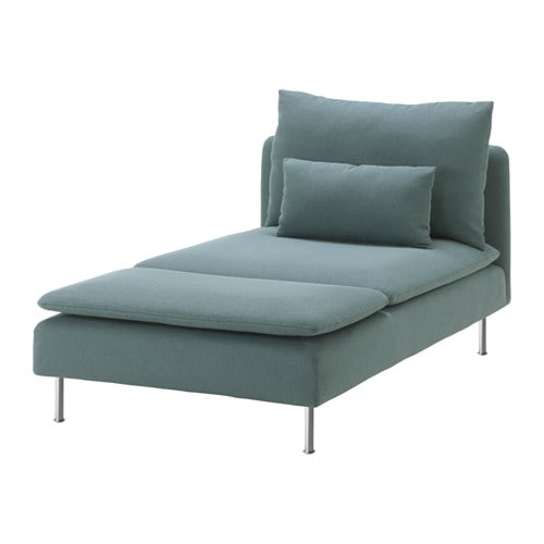IKEA SÖDERHAMN cover for chaise longue Hardwearing microfibre which is soft and smooth.