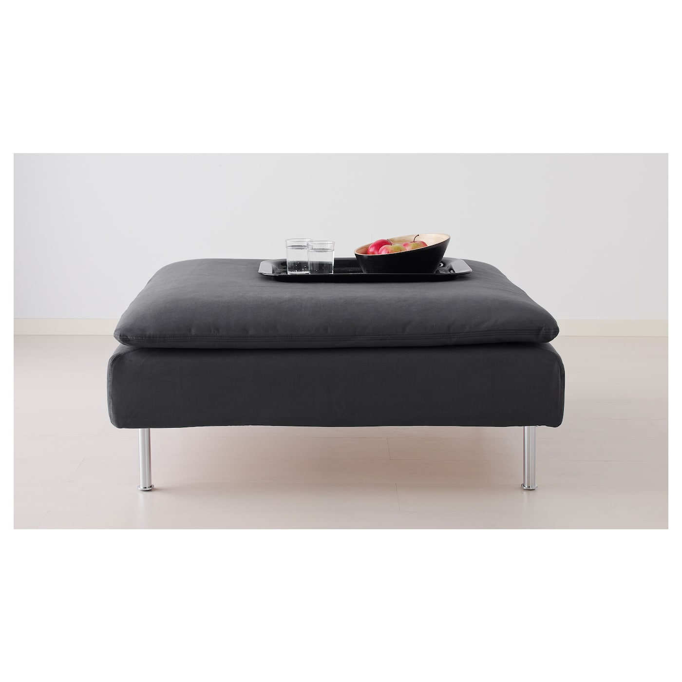 IKEA SÖDERHAMN footstool Hardwearing microfibre which is soft and smooth.