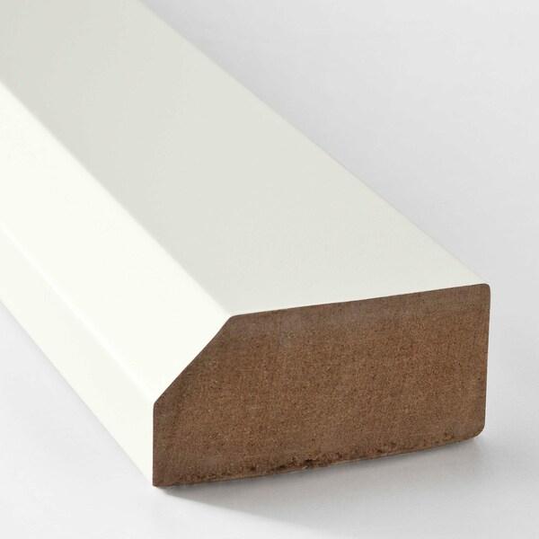 SÄVEDAL chamfer decostrip/moulding white 221 cm 6 cm 2 cm