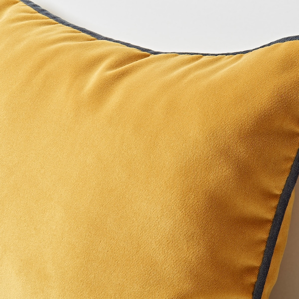 SAGALIE cushion cover velvet yellow 30 cm 40 cm