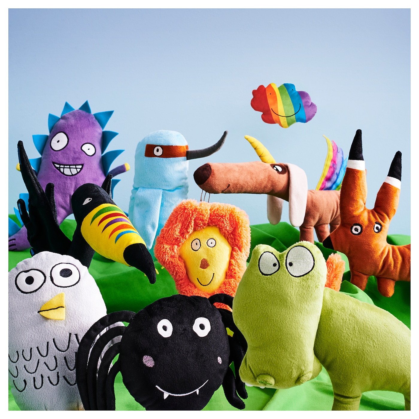 IKEA SAGOSKATT soft toy Designed by kids, for kids.