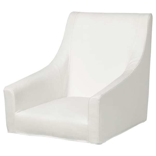 SAKARIAS Cover for chair with armrests, Inseros white