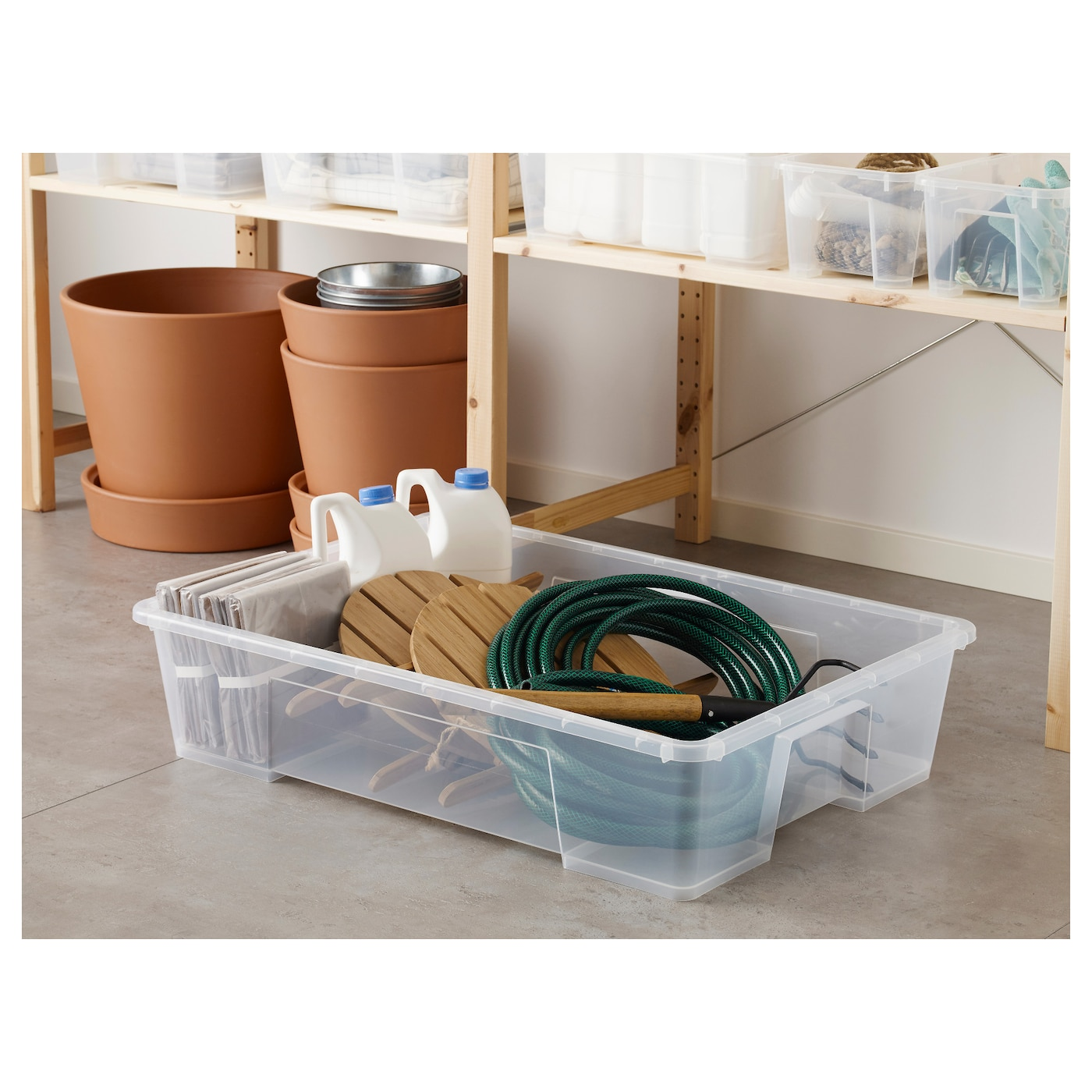 IKEA SAMLA box Can also be used as extra storage space under the bed.