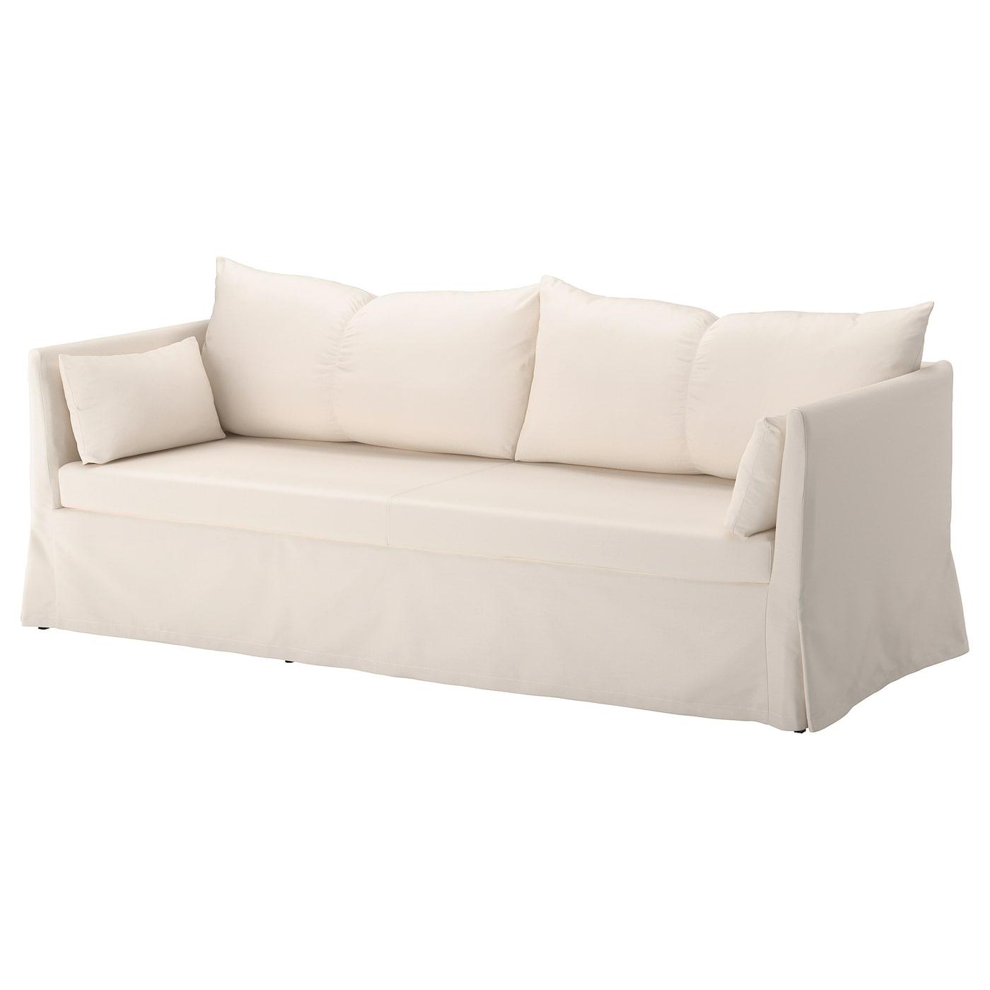 SANDBACKEN 3-seat sofa, Ransta natural - IKEA Ireland