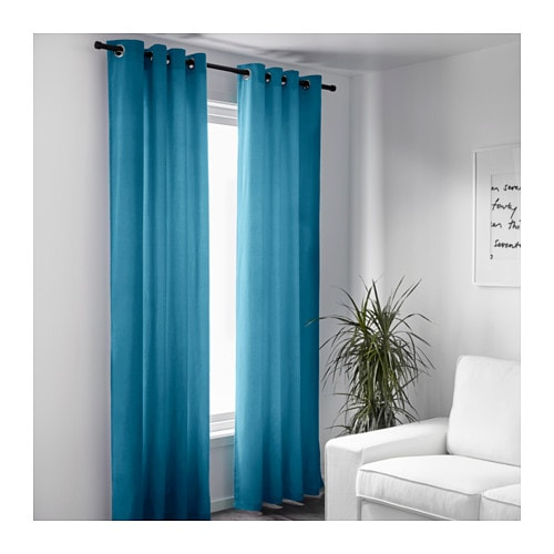 tende moderne ikea : IKEA SANELA curtains, 1 pair Cotton velvet gives depth to the colour ...