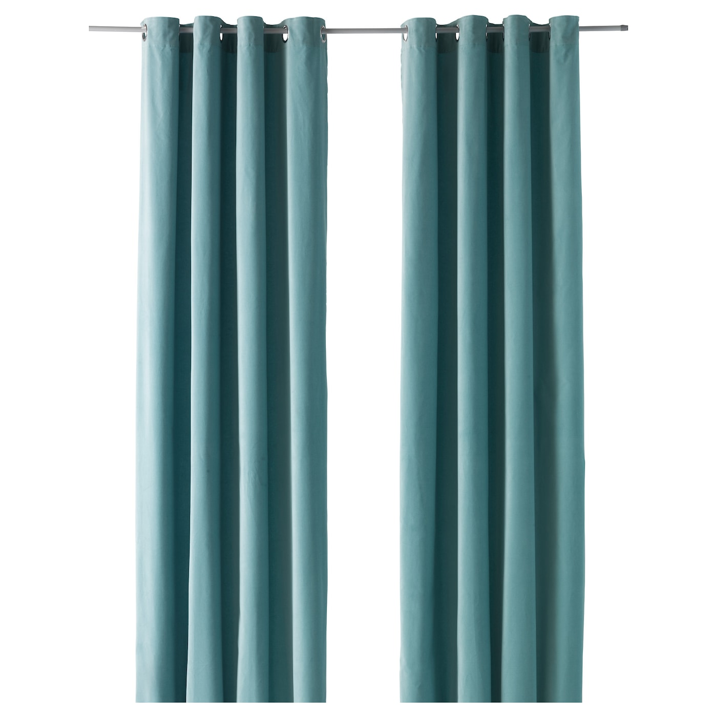 Amazing IKEA SANELA Curtains, 1 Pair Cotton Velvet Gives Depth To The Colour And  Softness To