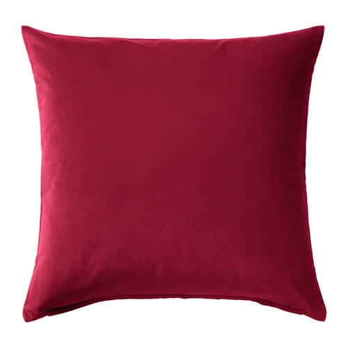 sanela cushion cover dark pink 65x65 cm ikea. Black Bedroom Furniture Sets. Home Design Ideas