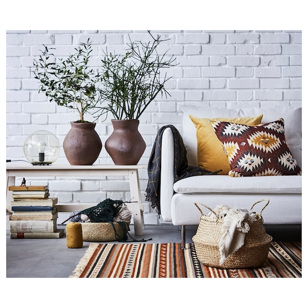 SANELA cushion cover golden-brown 50 cm 50 cm