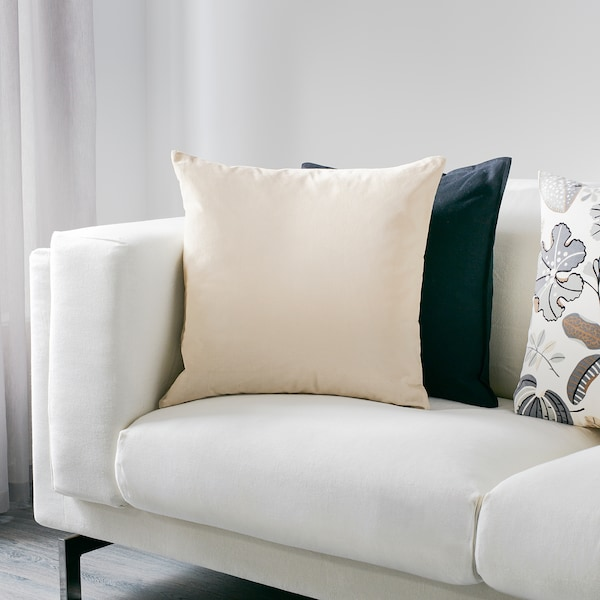 SANELA cushion cover light beige 50 cm 50 cm