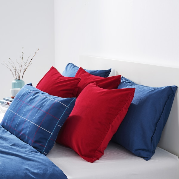 SANELA Cushion cover, red, 50x50 cm