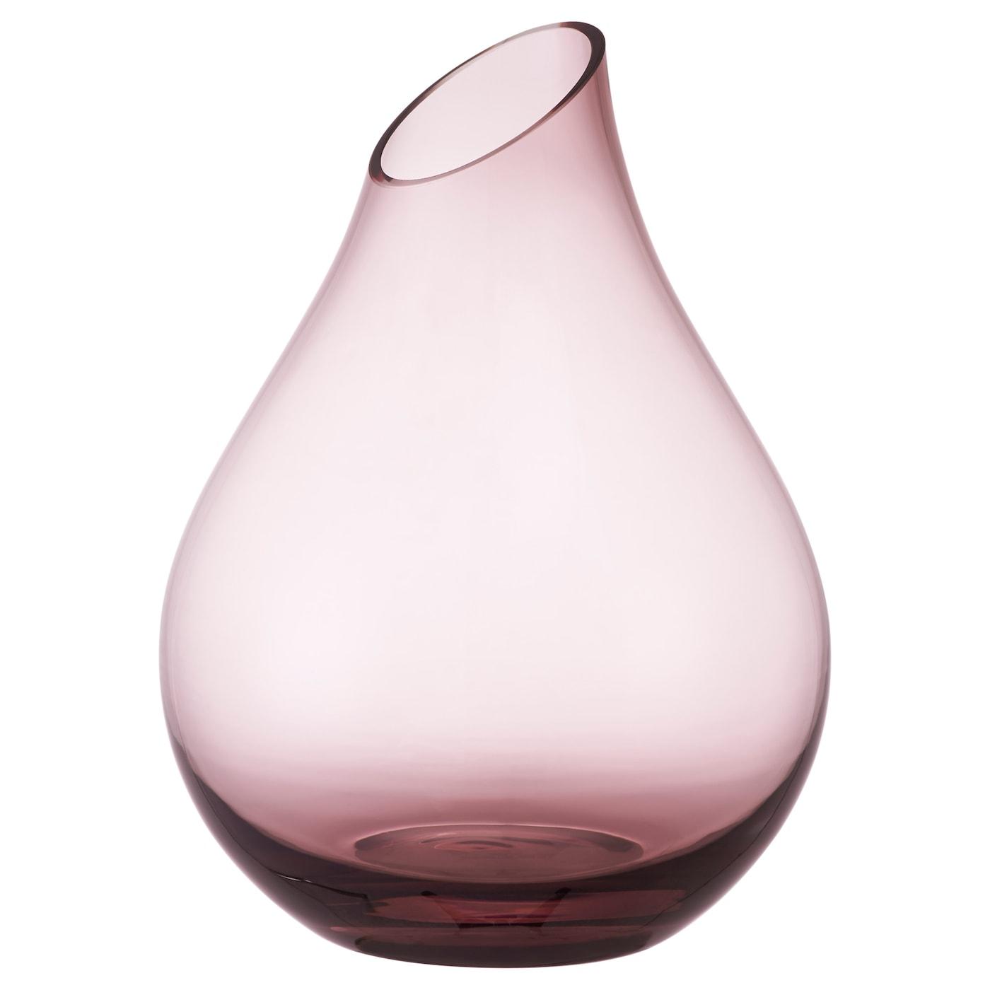Sannolik vase pink 17 cm ikea for Decoration vase en verre
