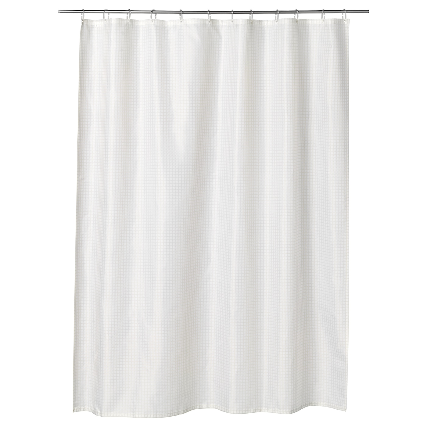 IKEA SAXÄLVEN shower curtain Densely-woven polyester fabric with water-repellent coating.