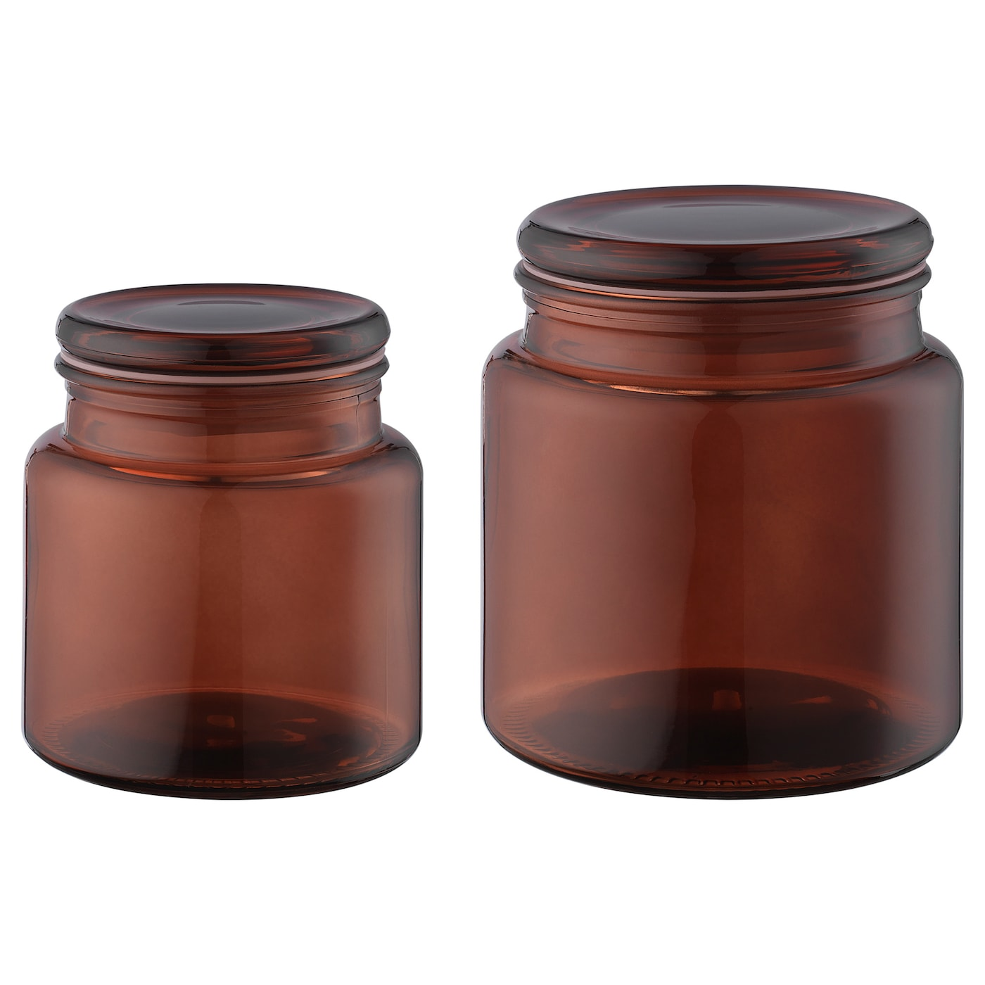 IKEA SEGERSJÖN jar with lid, set of 2 Helps you organise cotton wool and hair clips.