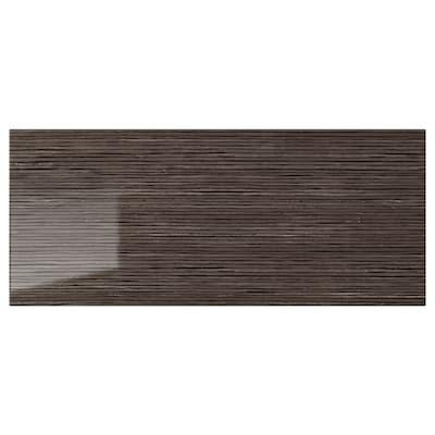 SELSVIKEN Drawer front, patterned high gloss brown, 60x26 cm