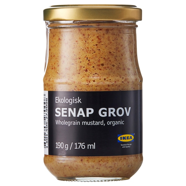 SENAP GROV Whole-grain mustard, organic