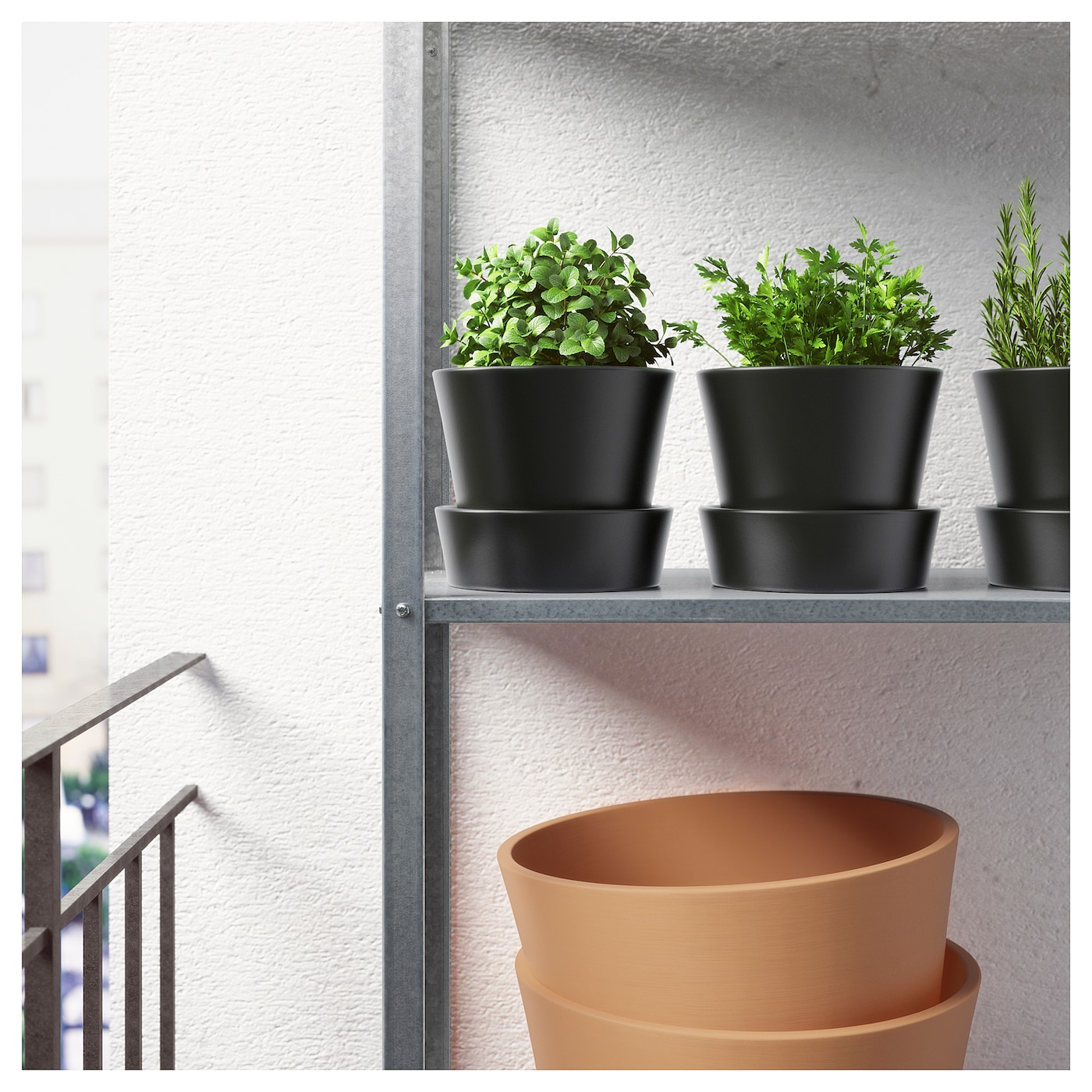 IKEA SENAP plant pot with saucer