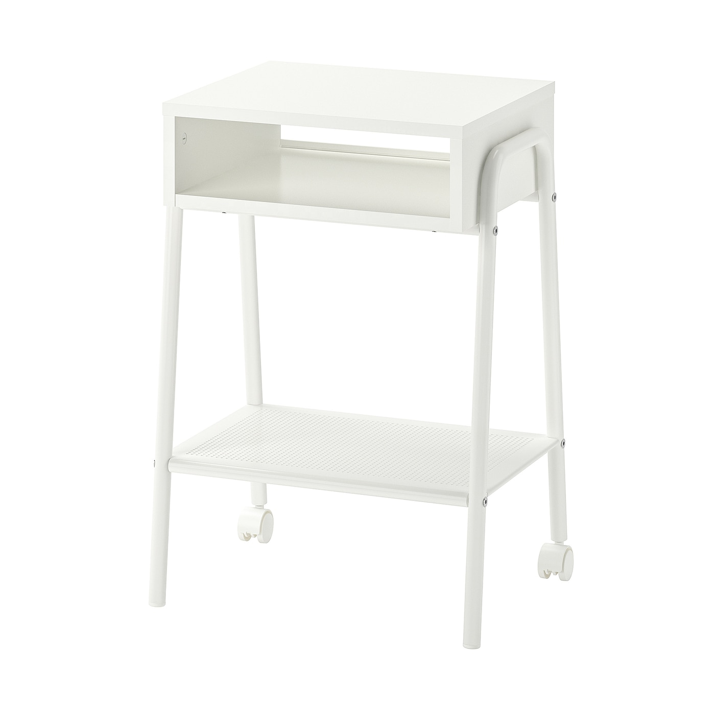 IKEA SETSKOG bedside table Easy to move since the bedside table has castors.