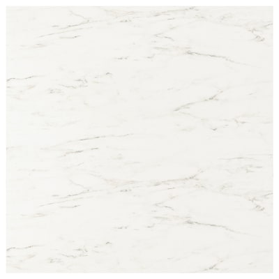SIBBARP Custom made wall panel, white marble effect/laminate, 1 m²x1.3 cm