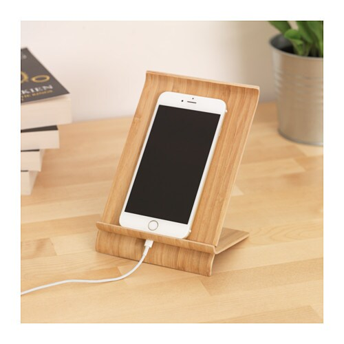 sigfinn holder for mobile phone bamboo veneer ikea