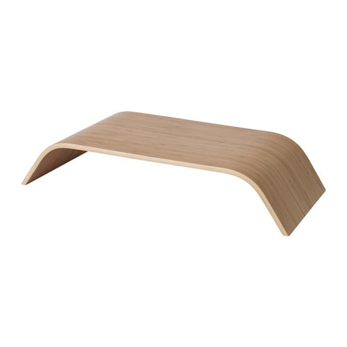 SIGFINN Monitor stand, fixed height Bamboo veneer - IKEA