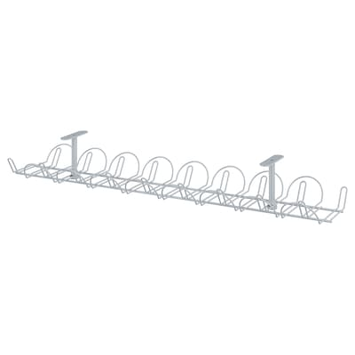 SIGNUM Cable trunking horizontal, silver-colour, 70 cm