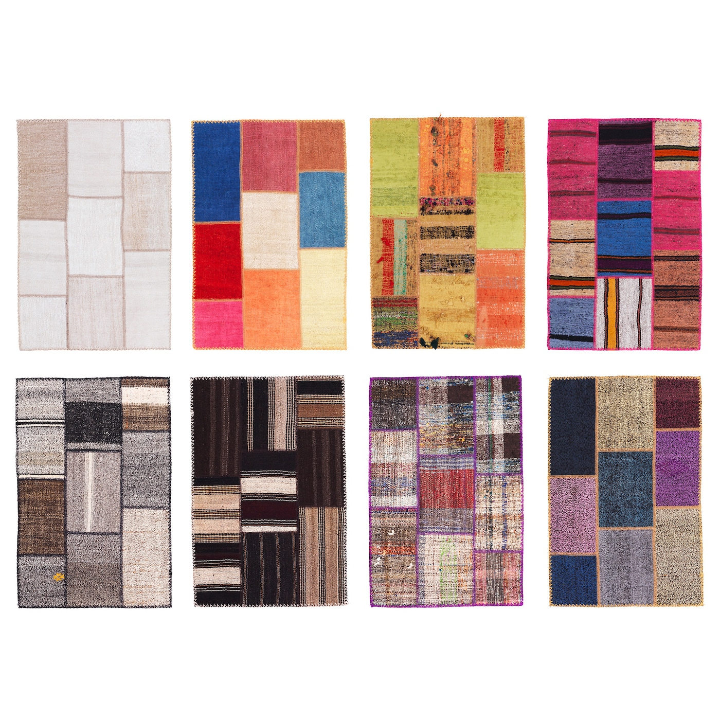 SILKEBORG Rug, low pile Assorted colours 60x90 cm - IKEA