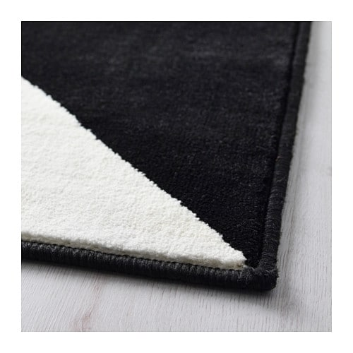 IKEA SILLERUP rug, low pile The thick pile dampens sound and provides a soft surface to walk on.