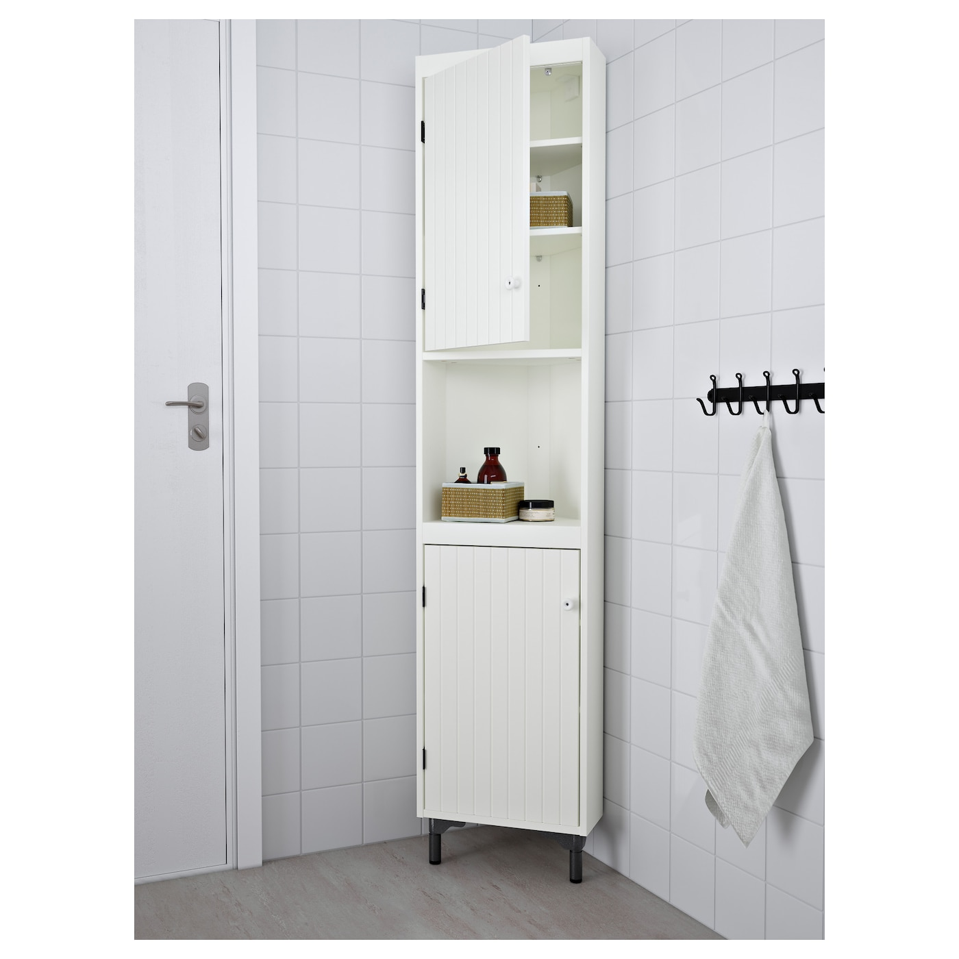 IKEA SILVERÅN corner unit You can mount the door to open from the right or left.