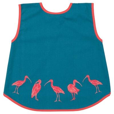 SILVERPOPPEL children's apron dark turquoise 51 cm