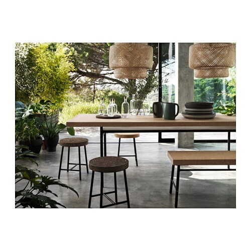 SINNERLIG Dining table Cork natural 236×85 cm  IKEA