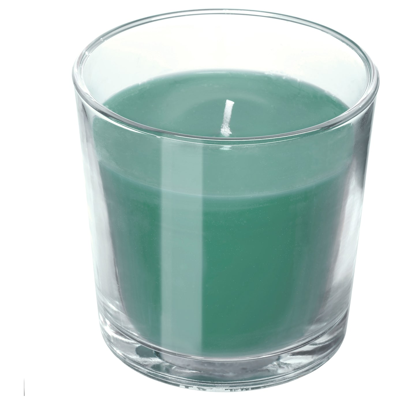 IKEA SINNLIG scented candle in glass A crisp and fresh scent of frosty apples and grass.