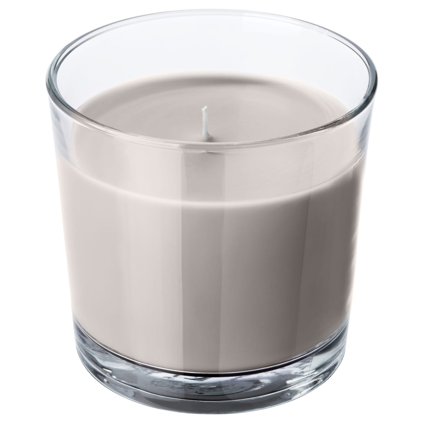 IKEA SINNLIG scented candle in glass Spicy scent of nutmeg, cinnamon and vanilla.