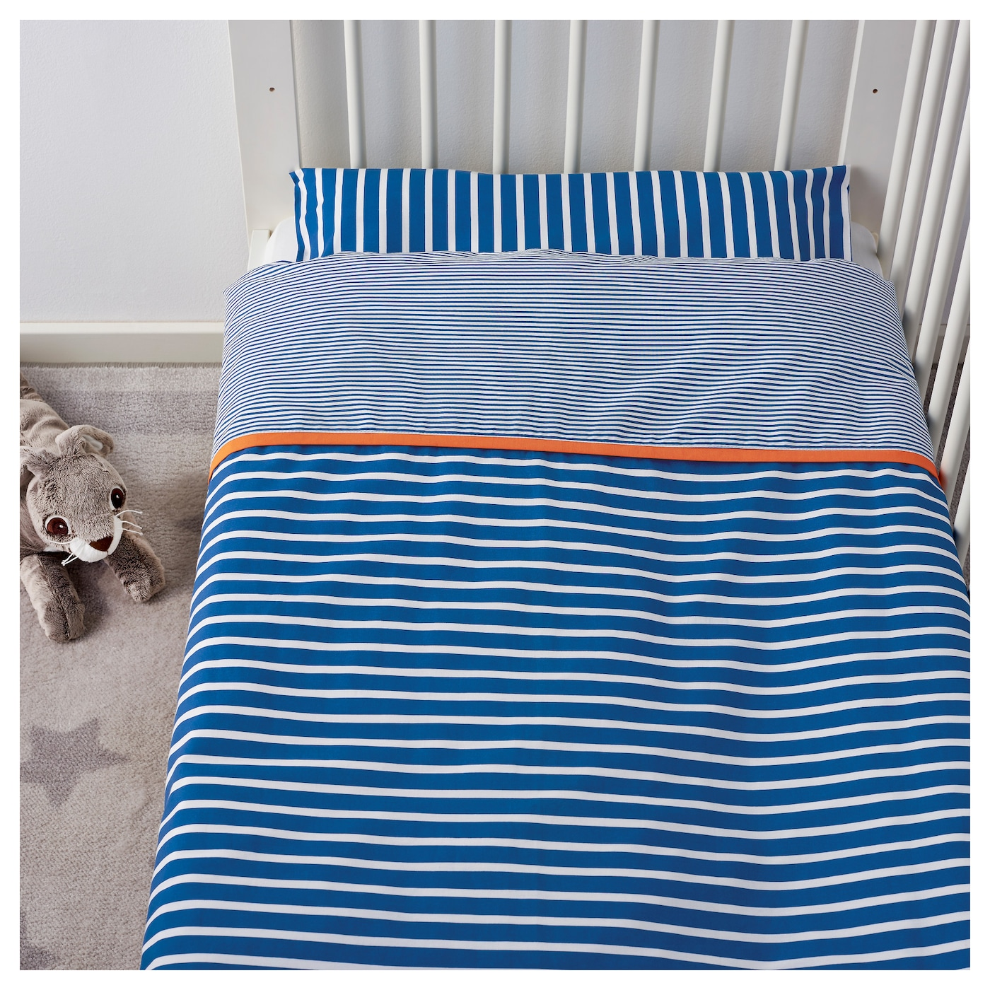IKEA SKÄMTSAM quilt cover/pillowcase for cot