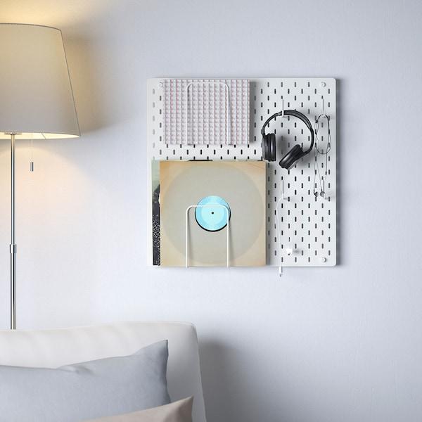 SKÅDIS Pegboard combination, white, 56x56 cm