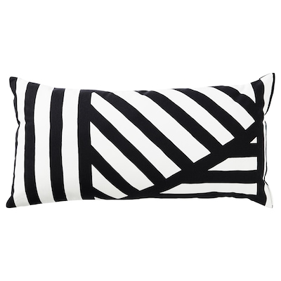 SKÄRVFRÖ cushion black/white 30 cm 60 cm 280 g 360 g