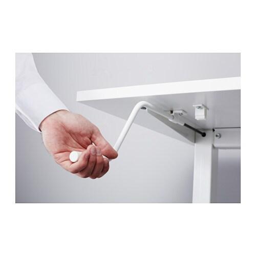 Skarsta Desk Sit Stand White 160x80 Cm Ikea