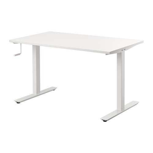 IKEA SKARSTA desk sit/stand Adjustable feet make the desk stand steady also on uneven floors.