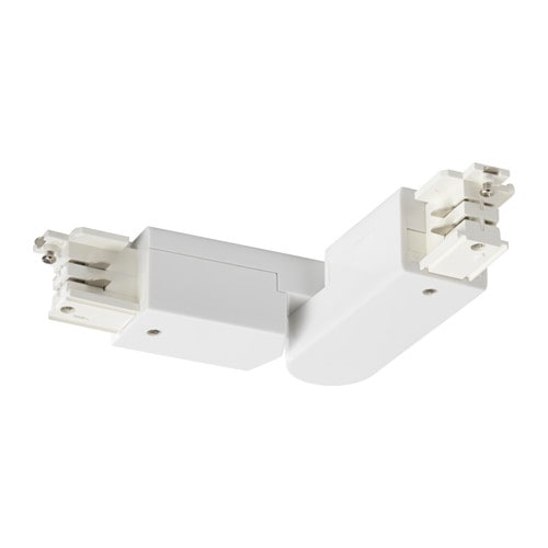 IKEA SKENINGE angled connector Allows you to connect SKENINGE tracks at an angle up to 110°.