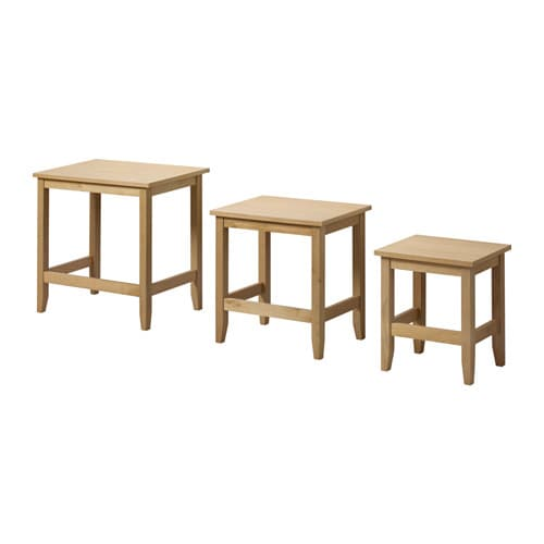 IKEA SKOGHALL nest of tables, set of 3 Can be pushed together to save space.