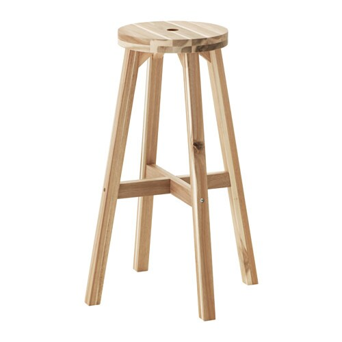 IKEA SKOGSTA bar stool Solid wood is a hardwearing natural material.