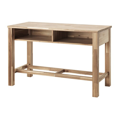 Skogsta bar table acacia 140x64 cm ikea - Table de bar avec rangement ...