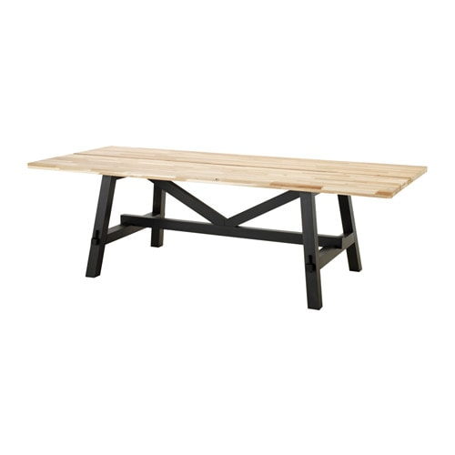 Skogsta dining table acacia 240x100 cm ikea - Table balcon suspendue ikea ...