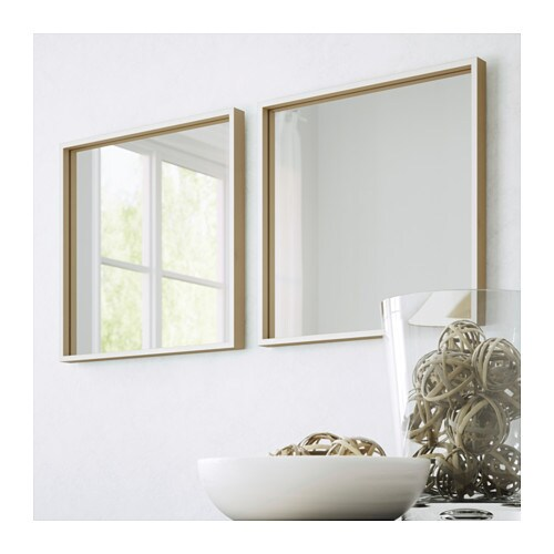 skogsv g mirror white beech veneer 40x40 cm ikea. Black Bedroom Furniture Sets. Home Design Ideas