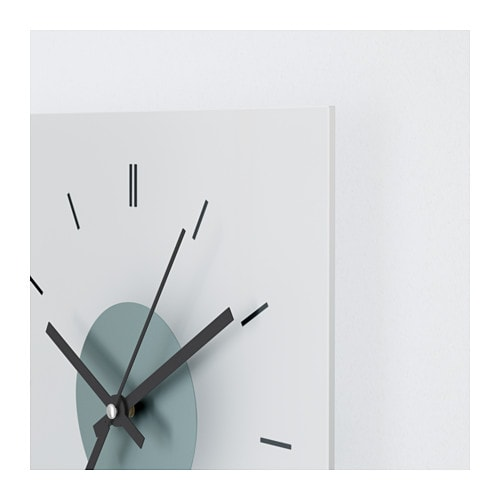 IKEA SKOJ wall clock The clock is extra resistant to impact as it is made of tempered glass.